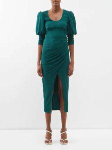Saint Laurent - Pussy-bow Silk-blend Brocade Blouse - Womens - Gold