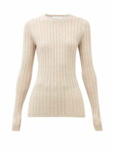 Gabriela Hearst - Collins Lace Ribbed Cashmere-blend Sweater - Womens - Beige