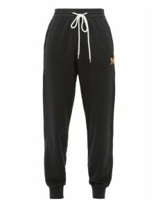 M Missoni - Logo-embroidered Cotton-jersey Track Pants - Womens - Black