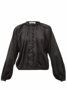 Àcheval Pampa - Gloria Silk-blend Satin Blouse - Womens - Black