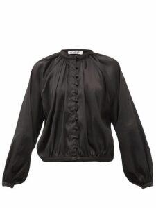 Àcheval Pampa - Gloria Silk-blend Satin Blouse - Womens - Black