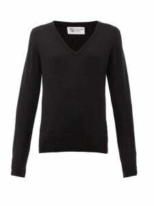 Johnston's Of Elgin - V-neck Cashmere Sweater - Womens - Black