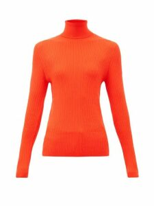 Fusalp - Ancelle Rib-knitted Roll-neck Top - Womens - Red