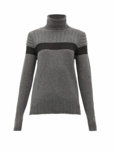 Fusalp - Utopia Panelled Roll-neck Wool-blend Sweater - Womens - Grey