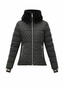Fusalp - Poudreuse Collar-trim Quilted-down Ski Jacket - Womens - Black