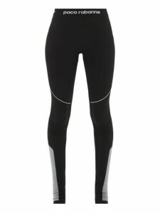 Paco Rabanne - Technical Jersey Leggings - Womens - Black Grey