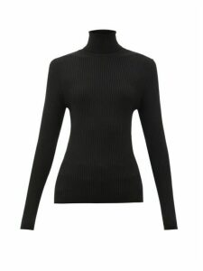 Fusalp - Ancelle Rib-knitted Roll-neck Top - Womens - Black