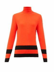 Fusalp - Ubac Striped Roll-neck Top - Womens - Red