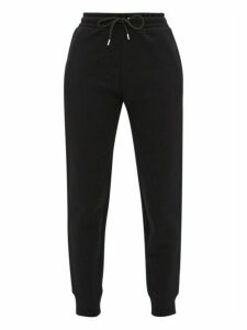 Paco Rabanne - Technical Fleece-backed Cotton-jersey Track Pants - Womens - Black