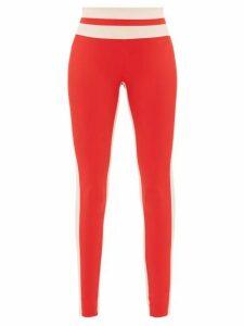 Vaara - Flo Striped Performance Leggings - Womens - Red Multi