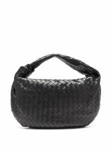 Bottega Veneta - Bv Jodie Small Intrecciato Leather Shoulder Bag - Womens - Black