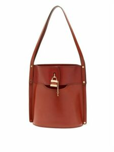 Chloé - Aby Leather Bucket Bag - Womens - Dark Brown