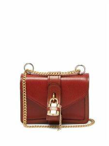 Chloé - Aby Mini Leather Cross-body Bag - Womens - Dark Brown