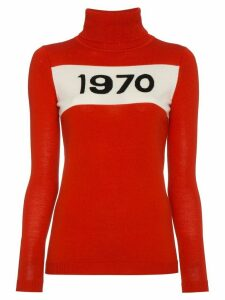 Bella Freud Wool Long Sleeve 1970 Sweater - Red