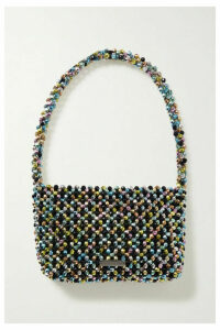Loeffler Randall - Marleigh Beaded Satin Shoulder Bag - Black