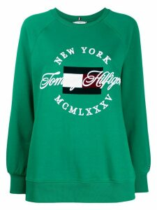 Tommy Hilfiger embroidered logo sweater - Green