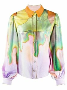 Peter Pilotto abstract-print blouse - Yellow