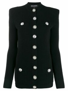 Balmain rib-knit cardigan - Black
