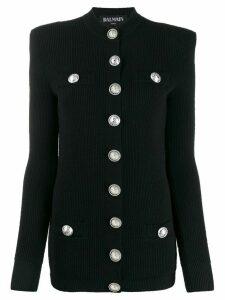 Balmain rib-knit cardigan - Black