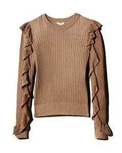 Joie Beza Metallic Rib-Knit Sweater