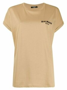 Balmain short-sleeve logo T-shirt - Brown