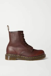 Dr. Martens - 1460 Lace-up Textured-leather Ankle Boots - Brown