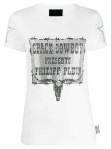 Philipp Plein space cowboy print T-shirt - White
