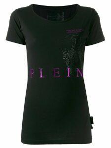 Philipp Plein skull logo print T-shirt - Black