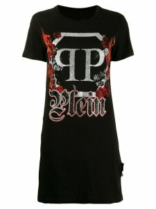 Philipp Plein crystal maxi T-shirt - Black
