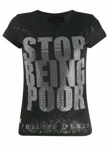 Philipp Plein crystal T-shirt - Black