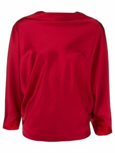 Chalayan boat neck blouse - Red