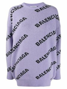 Balenciaga logo detail jumper - PURPLE