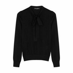 Dolce & Gabbana Black Fine-knit Cashmere-blend Jumper