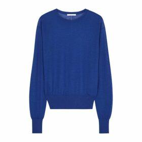 Helmut Lang Blue Fine-knit Cashmere-blend Jumper