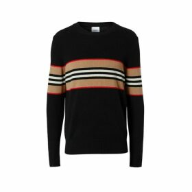Burberry Icon Stripe Detail Cashmere Sweater