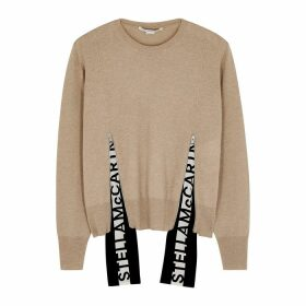 Stella McCartney Camel Logo Wool Jumper