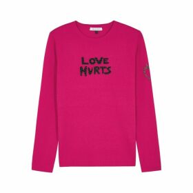 Bella Freud Love Hurts Fuchsia Wool-blend Jumper
