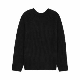 Helmut Lang Ghost Black Wool-blend Jumper