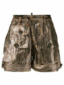 Dsquared2 metallic effect shorts
