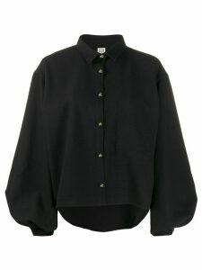 Totême balloon sleeve cropped shirt - Black