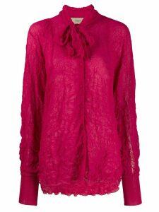 Maison Flaneur crinkled shirt - Pink