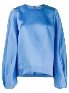 Nina Ricci oversized bell sleeve blouse - Blue