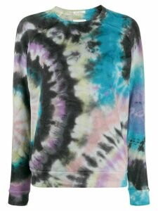 Mother tie dye print sweatshirt - Blue