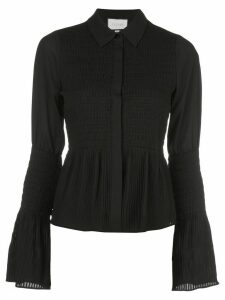 Alexis Chantal shirred bell-sleeved shirt - Black
