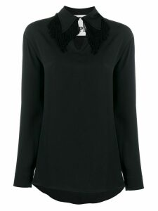 8pm keyhole blouse - Black