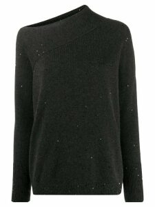 Brunello Cucinelli off-the-shoulder jumper - Grey