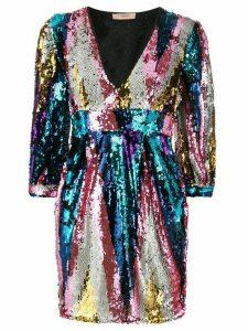 Twin-Set sequin embellished dress - SILVER
