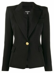 Balmain fitted one button blazer - Black