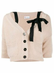Red Valentino bow-embellished cropped cardigan - PINK
