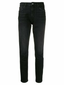 ANINE BING high-rise slim fit jeans - Black